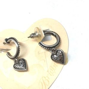 Brighton silver mini hoop post earrings